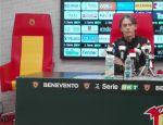 """Benevento, Inzaghi: """"Abbiamo vinto una gara difficile e questo crea entusiasmo"""""""