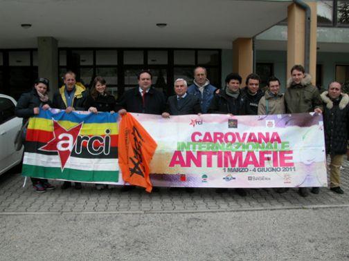 Carovana antimafia a Sant'Agata de' Goti