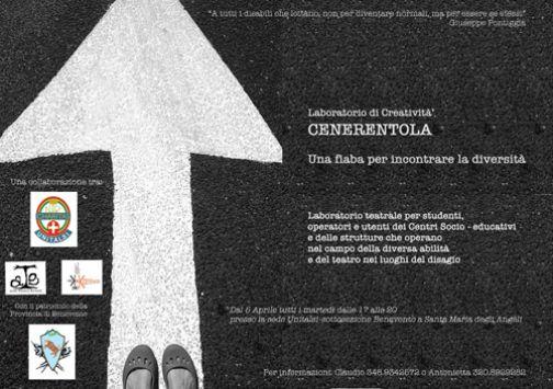 'Progetto Cenerentola', al via il laboratorio teatrale per incontrare le diversità