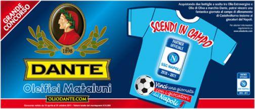 Olio Dante scende in campo con il calcio Napoli