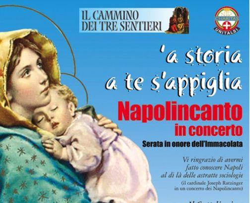 Arco del Sacramento, concerto dei 'Napolitano' in onore dell'Immacolata