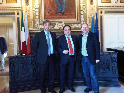 Sant'Agata, Valentino incontra il fondatore di Impresecheresistono Luca Peotta