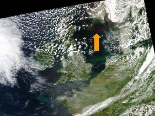 Acquisita dal Marsec l'immagine satellitare della nube di cenere in Islanda