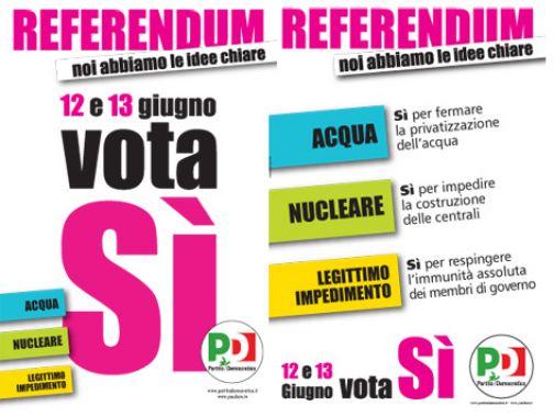 Refrendum di giugno, campagna di sensibilizzazione del Pd di Telese