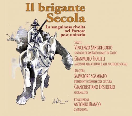 A San Bartolomeo presentazione del libro sul brigante Secola di Bianco