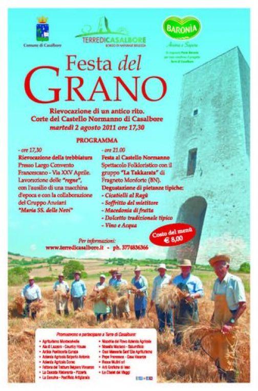 Festa del Grano, il 2 agosto a Casalbore