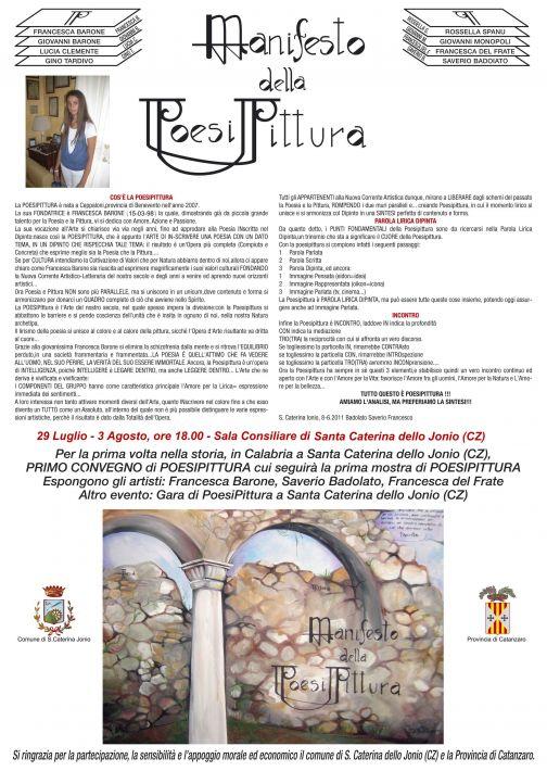 L'artista sannita Francesca Barone a Santa Caterina dello Ionio