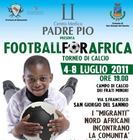 Football for Africa, dal 4 all'8 luglio a San Giorgio del Sannio