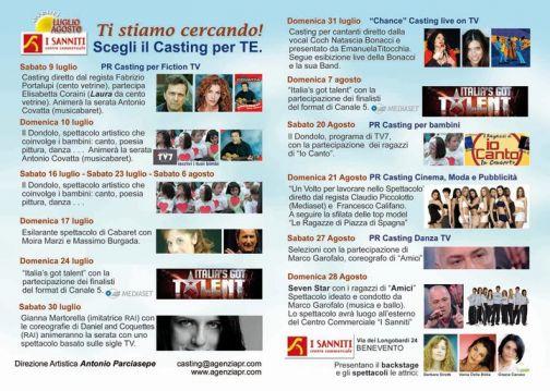 Casting e Spettacoli al Centro Commerciale 'I Sanniti'