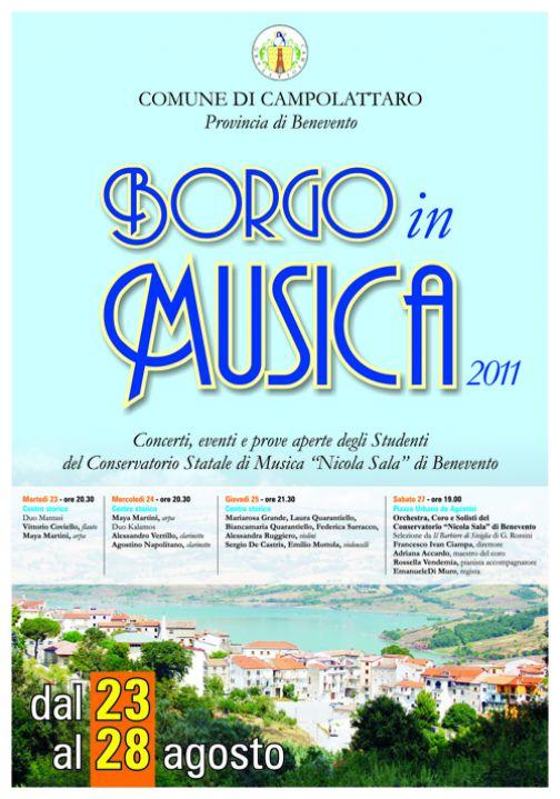 Campolattaro Borgo in Musica, dal 23 al 28 agosto
