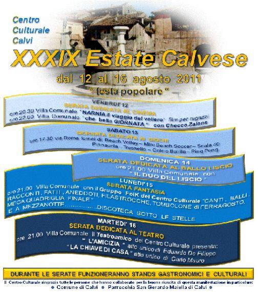 Estate Calvese, il programma della XXXXIX edizione