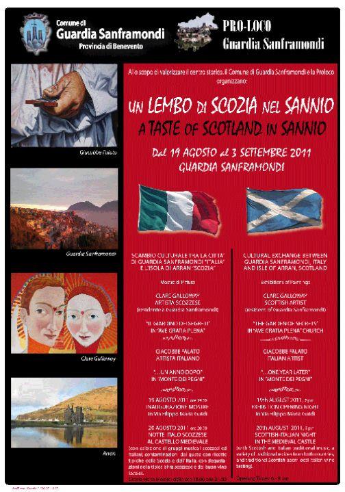 Guardia, 'Un lembo di Scozia nel Sannio': dal 19 agosto al 3 settembre