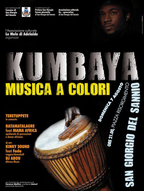 'Kumbaya: musica a colori', il 7 agosto a San Giorgio del Sannio