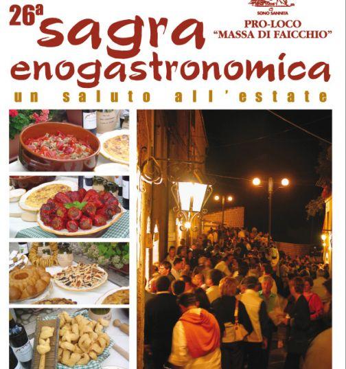 Sagra Enogastronomica, dal 16 al 18 settembre a Massa di Faicchio