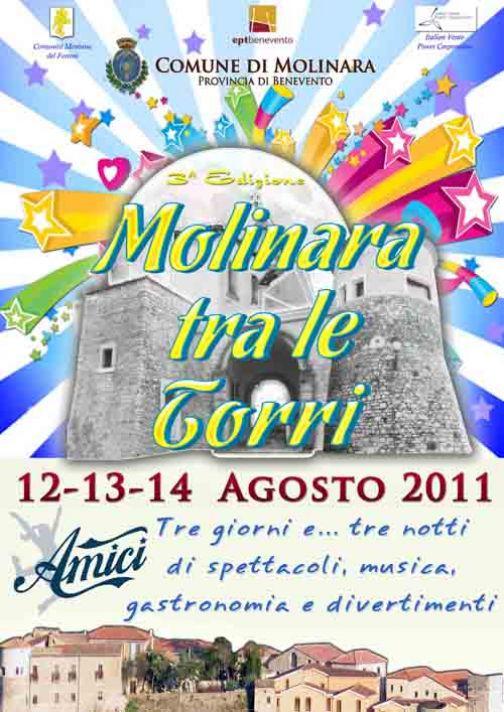 Molinara tra le tre Torri, dal 12 al 14 agosto spettacolo, musica e gastronomia
