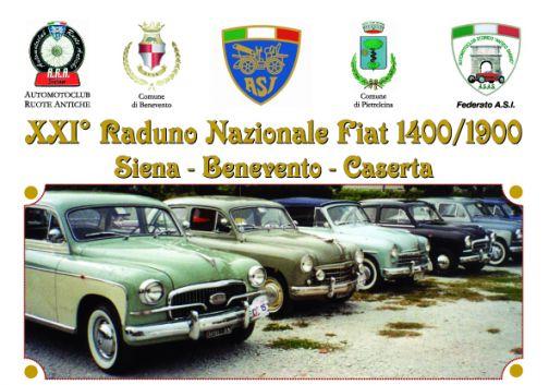 XXI° Raduno Nazionale Fiat 1400/1900 – Siena – Benevento – Caserta