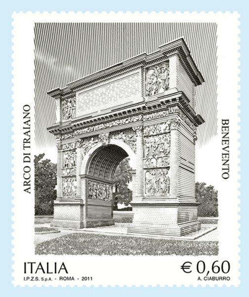 Poste Italiane, in vendita il francobollo sull'Arco di Traiano