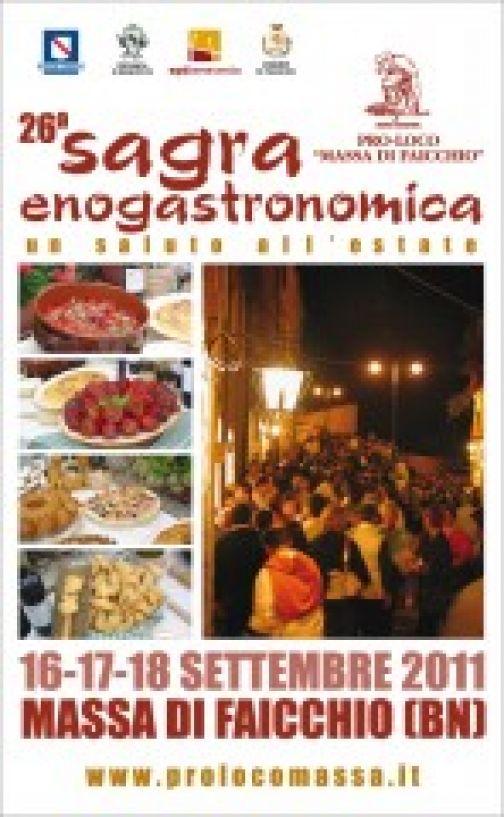 A Massa di Faicchio la 26a Sagra Enogastronomia, dal 16 al 18 settembre