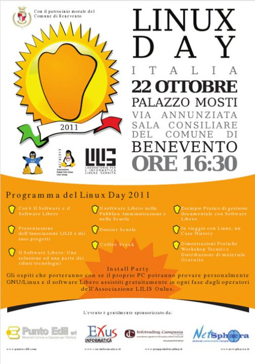 Linus Day, workshop sul software libero a Palazzo Mosti
