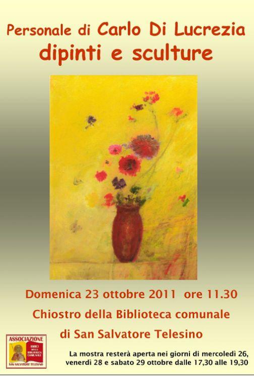 A San Salvatore Telesino s'inaugura la mostra di Carlo Di Lucrezia