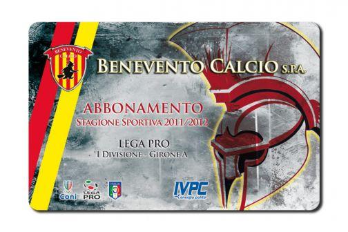 Benevento Calcio: pronta la tessera plastificata, sostituirà il vecchio ticket