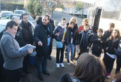 Gli alunni della media 'Pascoli'in visita al depuratore GE.SE.SA
