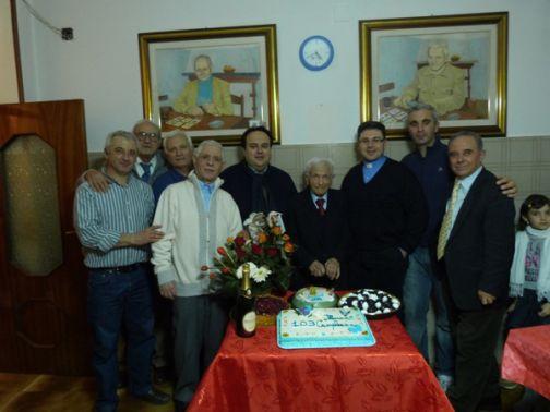 Sant'Agata, Giuseppe Viscusi ha compiuto 103 anni