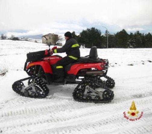 Emergenza neve: i Vigili del Fuoco raddoppiano i turni del personale