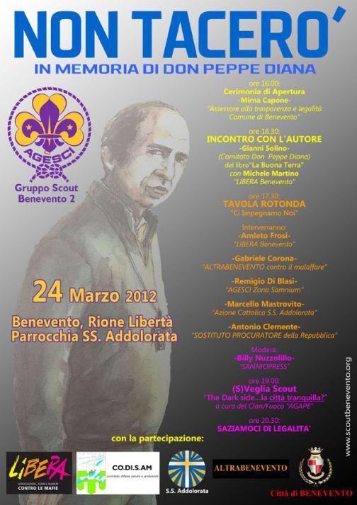 Il 24 marzo iniziativa dell'Agesci Benevento 2 in ricordo di don Peppe Diana