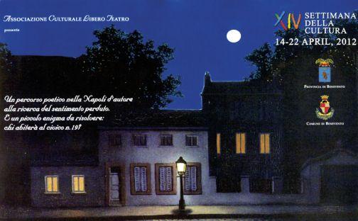 L'Associazione Culturale Libero Teatro il 14 aprile presenta 'Via Sentimento n. 19'