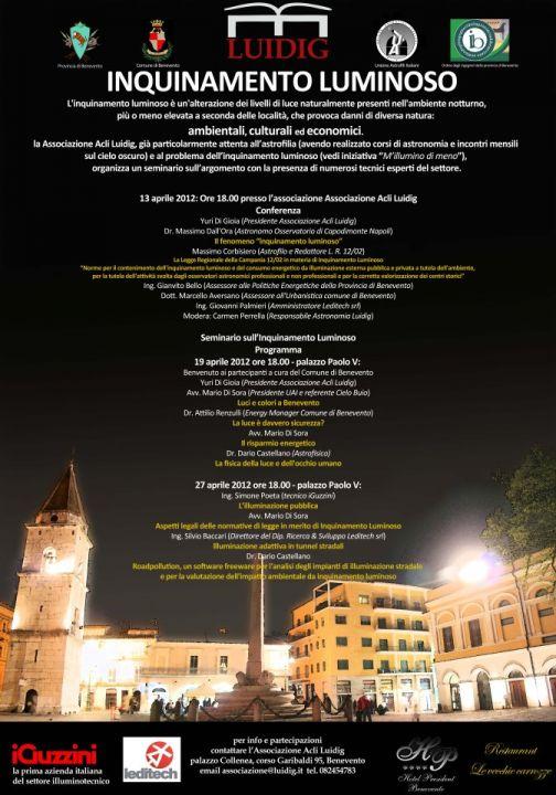 Alla Luidig conferenza sull'inquinamento luminoso
