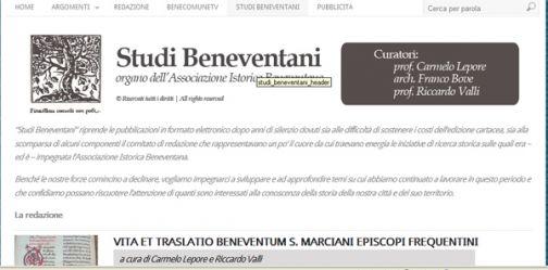 E' online la rivista storica Studi Beneventani