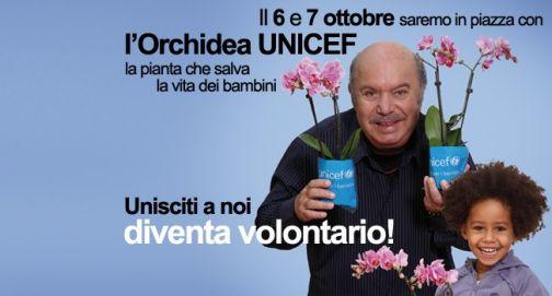 Uniti per i bambini l'Orchidea dell'Unicef 2012