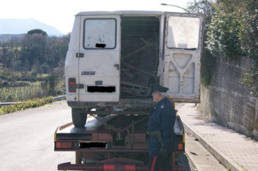Valle Telesina, trasporti rifiuti speciali: tre denunce e fogli di via