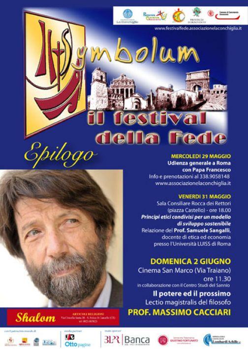 Festival della Fede, chiusura il 2 giugno con la lectio del filosofo Cacciaro