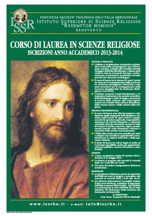 Corso di Laurea in Scienze Religiose, aperte le iscrizioni