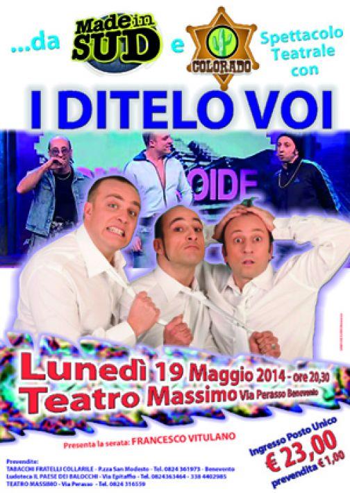 Benevento, il 19 maggio al teatro Massimo va in scena il nuovo spettacolo dei 'I Ditelo Voi'.