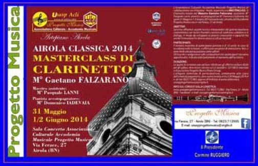 Airola Classica, Progetto Musica Unasp Acli: la Masterclass di Clarinetto di Gaetano Falzarano