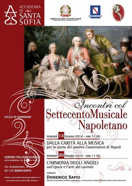 Accademia Santa Sofia, ciclo di seminari sul Settecento musicale napoletano: dal 13 al 20 giugno