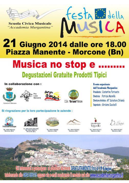 A Morcone Festa europea della musica 2014 'Solstizio d'Estate'