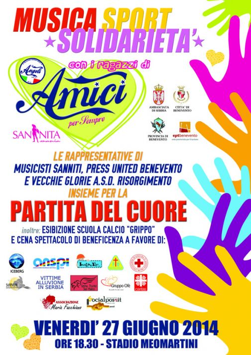 Musica, Sport, Solidarietà, il 27 giugno allo stadio Meomartini