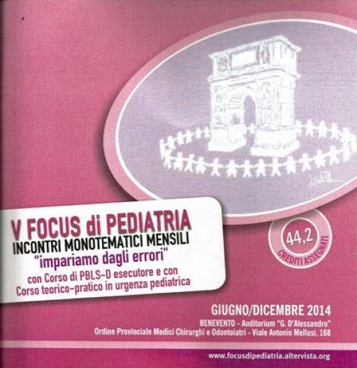 A Benevento il quinto Focus nazionale di Pediatria