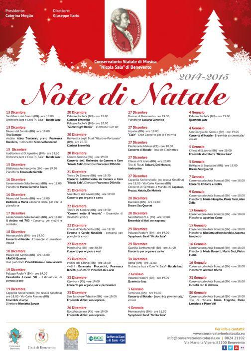 Conservatorio, il cartellone della prima edizione di Note di Natale
