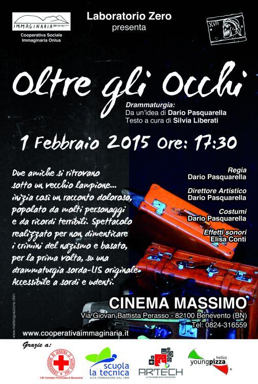 Oltre gli Occhi, al Massimo spettacolo teatrale in Lis e in italiano parlato