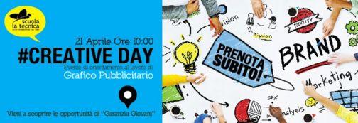Alla scuola La Tecnica Creative Day: il 21 aprile