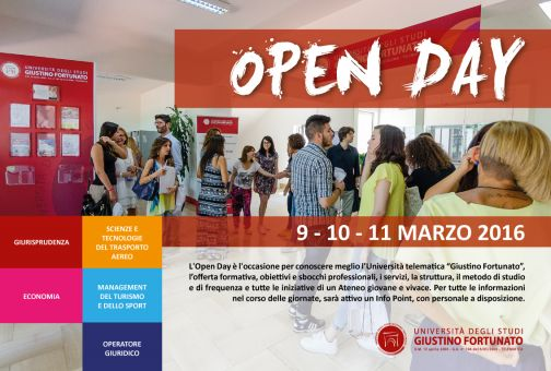 Open day UniFortunato, partner ufficiale Ryanair