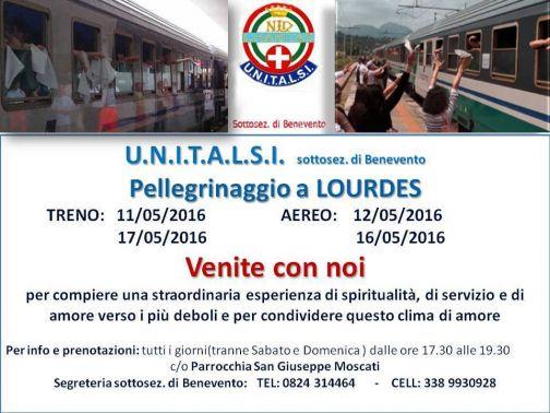 Unitalsi, Pellegrinaggio a Lourdes: dall'11 al 17 e dal 12 al 16 maggio