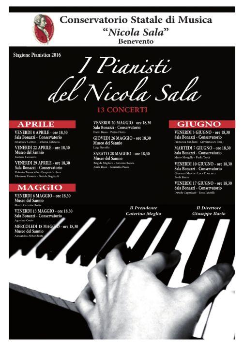 Conservatorio, Stagione Pianistica 2016: tutti gli appuntamenti
