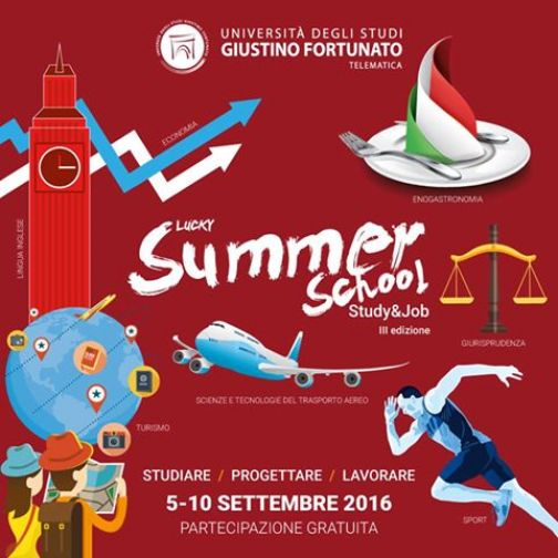 Lucky Summer School, dal 5 al 10 settembre all'Unifortunato