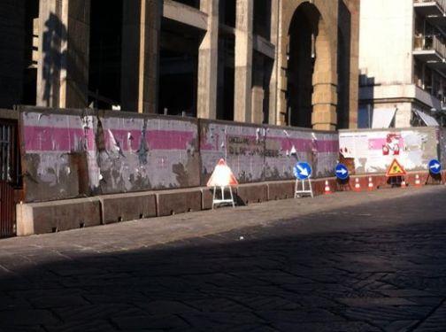 Detto fatto, arretrata la recinzione dinanzi al Duomo